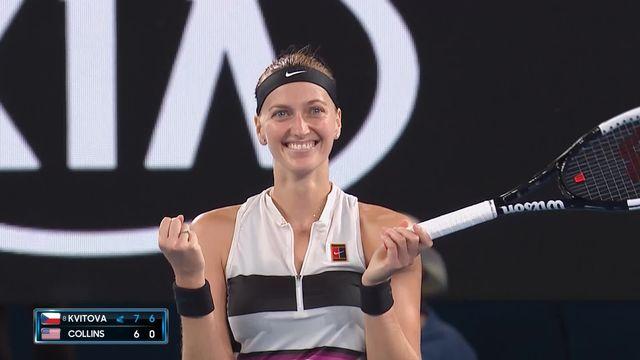 1-2 finale, Petra Kvitova se qualifie pour la finale à Melbourne [RTS]