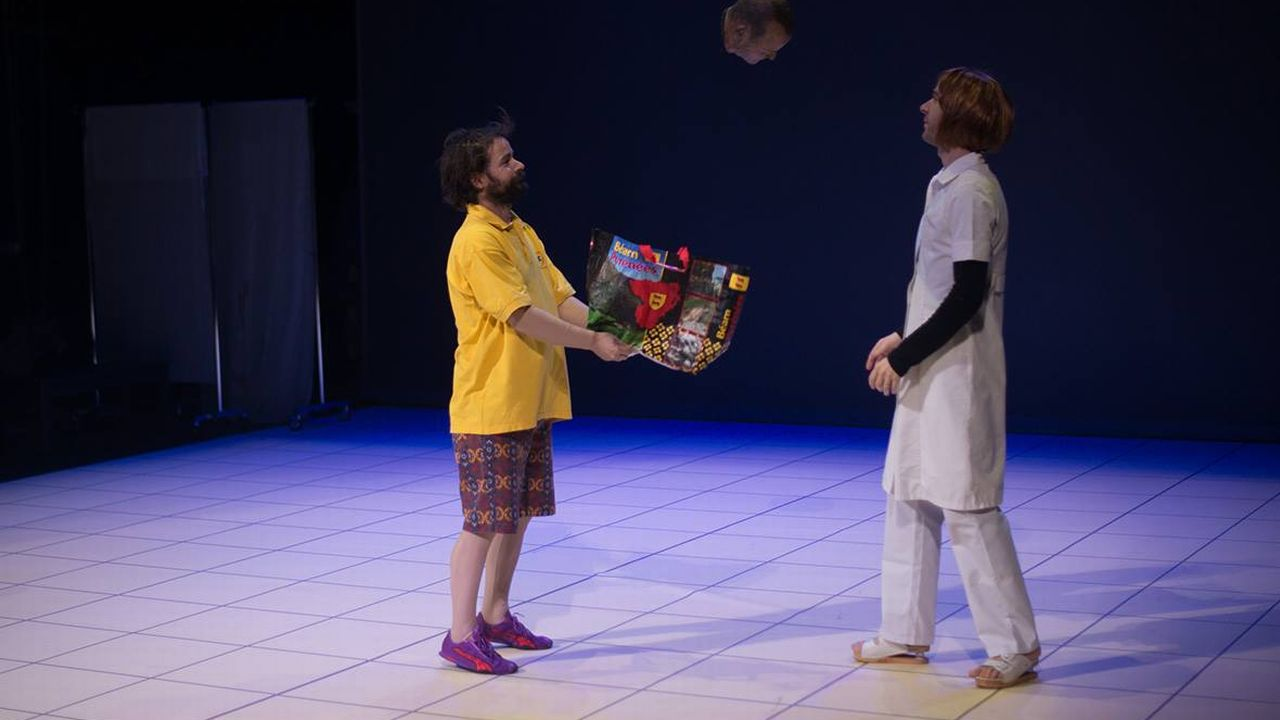 """Une photo du spectacle """"Le Royaume"""" de Oscar Gomez Mata. [Mathilda Olmi / Noa Vuagniaux - comedie.ch]"""