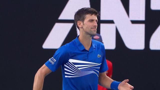 1-2 finale, N. Djokovic (SRB) – L. Pouille (FRA) 6-0: injouable, Djoko remporte la première manche en 23 minutes [RTS]