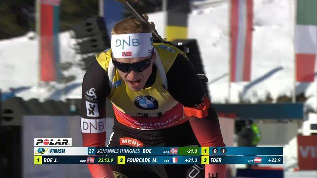 Antholz (ITA), sprint messieurs: victoire pour Johannes Boe (NOR) [RTS]