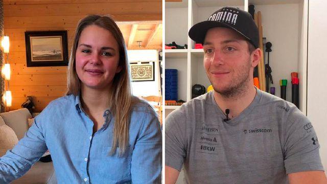 Charlotte Chable et Justin Murisier, deux athlètes pas épargnés par les blessures. [RTS - RTS]