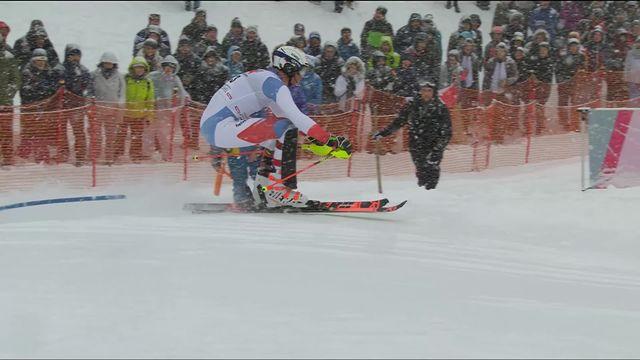 Kitzbuehel (AUT), slalom messieurs 1re manche: magnifique manche de Ramon Zenhaeusern (SUI) qui prend la tête [RTS]