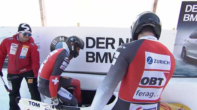 St-Moritz (SUI), 2e manche:  l'équipe Vogt-Michel (SUI) [RTS]