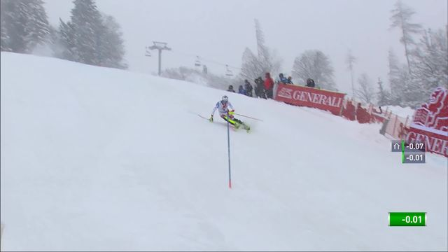 Kitzbuehel (AUT), slalom messieurs 2e manche: Daniel Yule (SUI) [RTS]