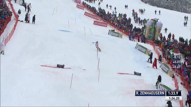 Kitzbuehel (AUT), slalom messieurs 2e manche: Ramon Zenhaeusern (SUI) [RTS]