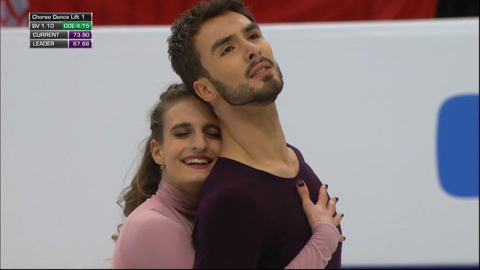 Minsk (BLR), danse sur glace: victoire du duo français Papadakis-Cizeron [RTS]