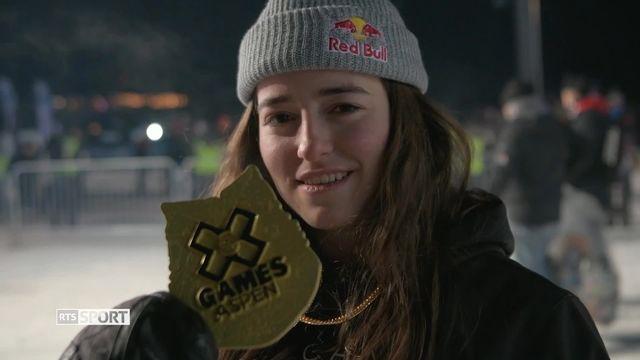 X-Games: Mathilde Gremaud se pare d'or en Big Air [RTS]