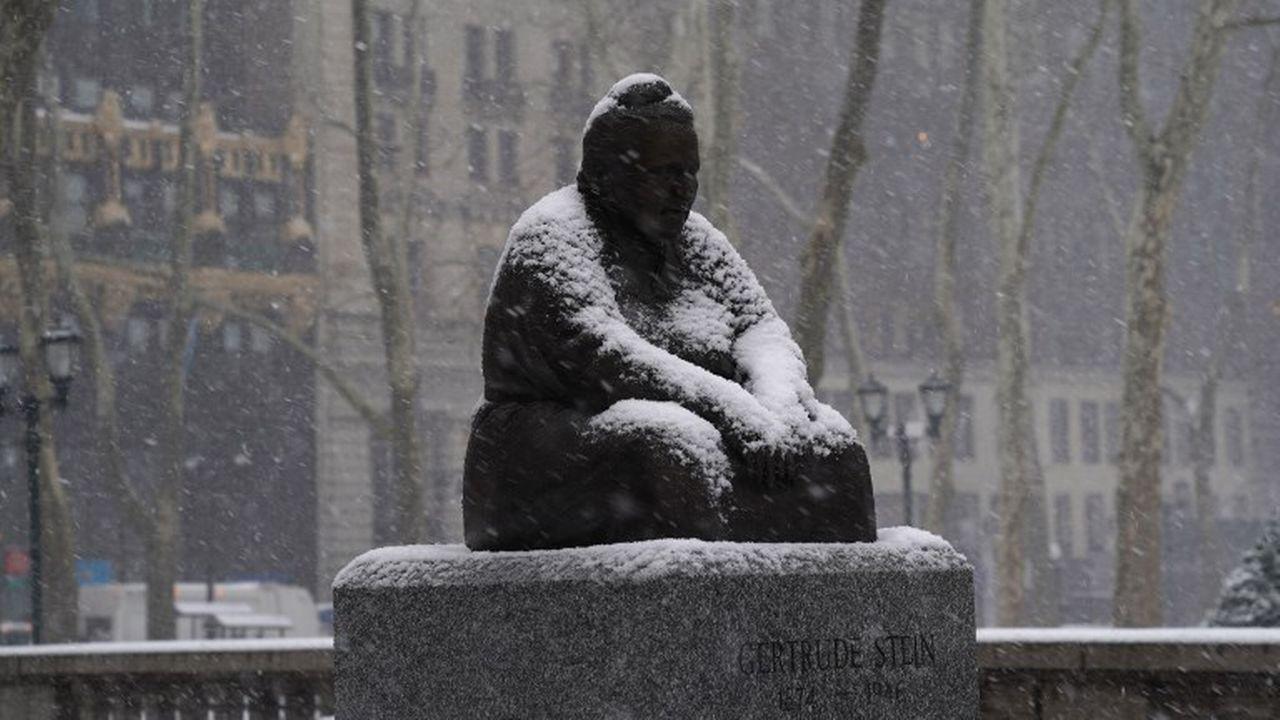 L'une des six seules statues de femmes à New York, l'écrivaine, dramaturge et féministe américaine Gertrude Stein. [Timothy A. Clary - AFP]