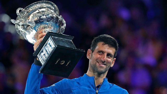 """Le """"Djoker"""" a fait craquer Nadal en finale à Melbourne. [Kin Cheung - AFP]"""