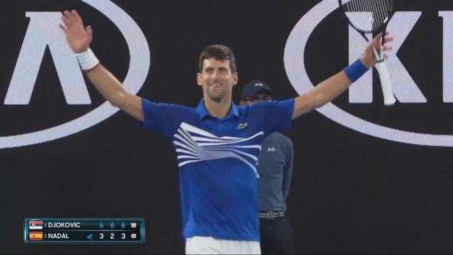Finale, N. Djokovic (SRB) - R. Nadal (ESP) 6-3 6-2 6-3: victoire incontestable du numéro un mondial [RTS]
