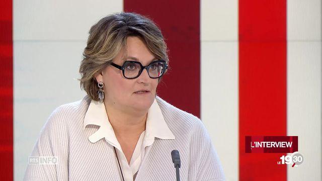 Cristina Gaggini, directrice romande d'Economie Suisse, favorable au temps partiel et au télétravail [RTS]