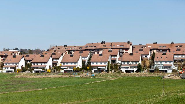 Un quartier de villas dans le canton d'Argovie. [Gaëtan Bally - Keystone]