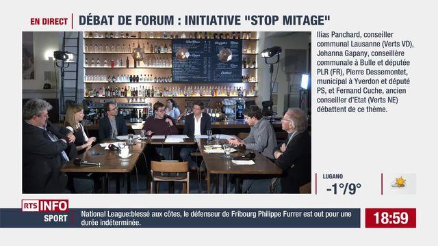 """Débat de Forum : initiative """"stop mitage"""" [RTS]"""