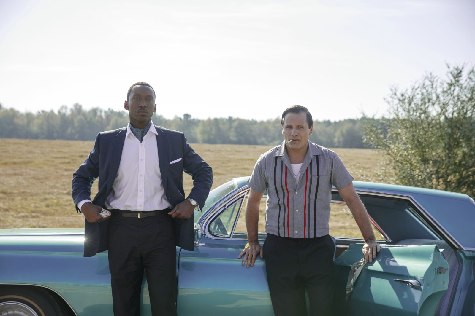 "Une photo du film ""The Green Book"" avec Mahershala Ali et Viggo Mortensen."
