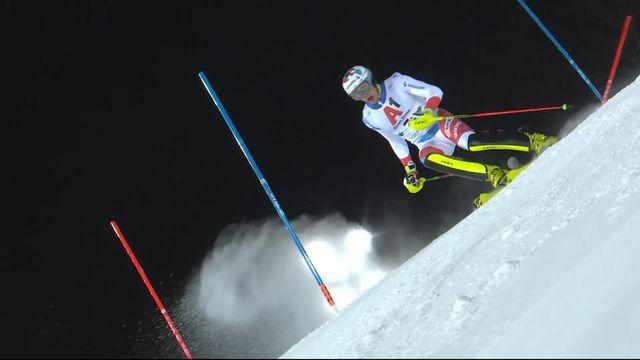 Schladming (AUT), slalom messieurs 1re manche: La deuxième place provisoire pour Yule (SUI) [RTS]