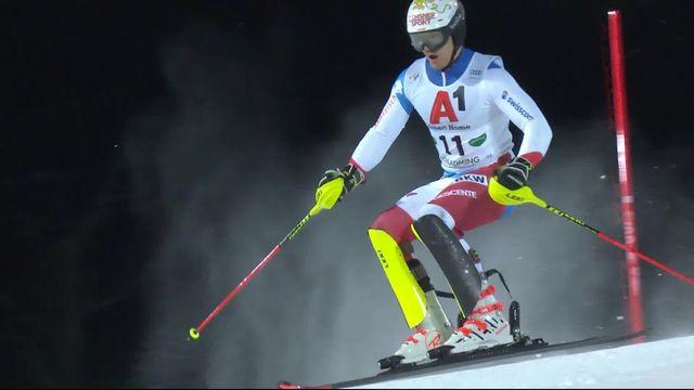 Schladming (AUT), slalom messieurs 1re manche: la course de Meillard (SUI) [RTS]