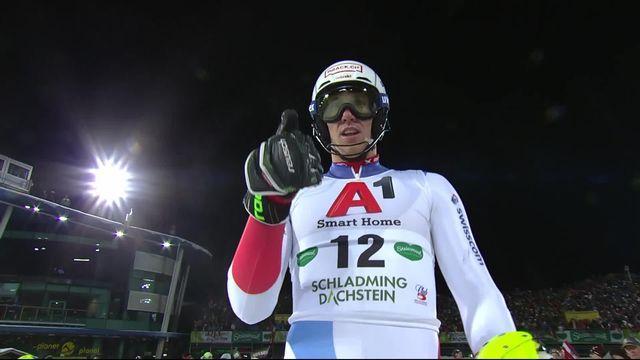 Schladming (AUT), slalom messieurs 1re manche: Zenhaeusern (SUI) est 4e provisoire [RTS]