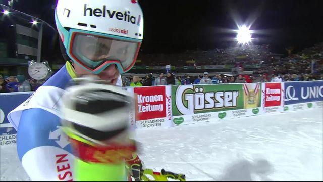 Schladming (AUT), slalom messieurs 2e manche: Daniel Yule (SUI) termine 3e ! [RTS]