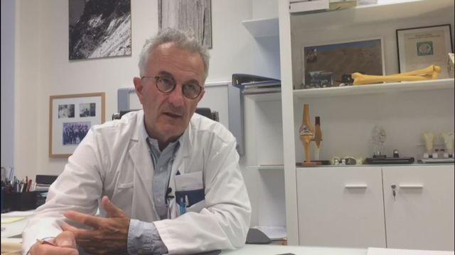La déchirure du ligament croisé expliquée par le docteur Siegrist [RTS]