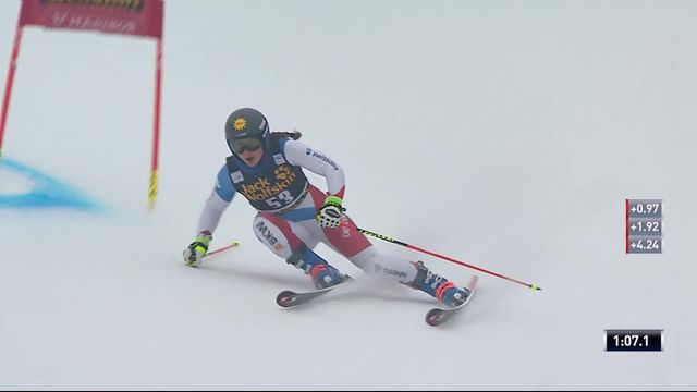 Maribor (SLO), Géant dames 1re manche: Jasmina Suter (SUI) [RTS]