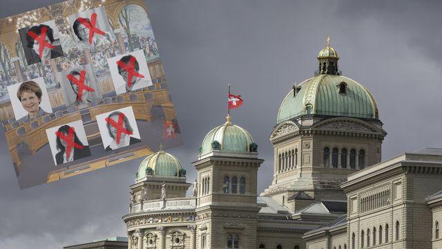 Six des sept femmes élues en 2015 du Conseil des Etats ne se représentent pas lors des élections fédérales cet automne [Gaëtan Bally - Keystone]