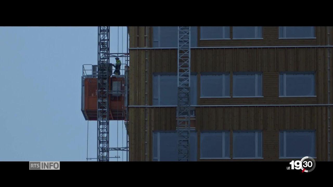 Les constructions en bois ont la cote. quartiers d'habitations, immeubles misent sur ce modèle plus écologiques [RTS]