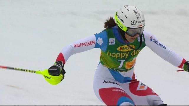 Maribor (SLO), slalom dames, 1re manche: Wendy Holdener (SUI) [RTS]