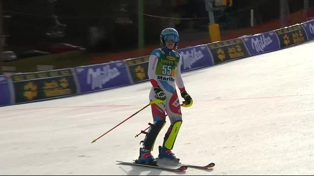 Maribor (SLO), slalom dames, 1re manche: Elena Stoffel (SUI) pas qualifiée pour la deuxième manche [RTS]