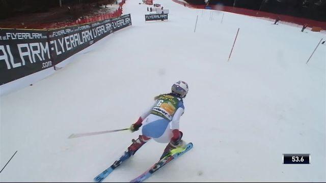 Maribor (SLO), slalom dames, 2e manche: Aline Danioth (SUI) [RTS]