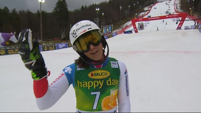 Maribor (SLO), slalom dames, 2e manche: Wendy Holdener (SUI) [RTS]