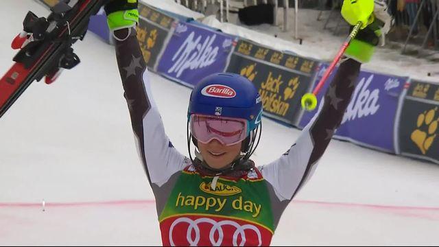Maribor (SLO), slalom dames, 2e manche: Mikaela Shiffrin (USA) remporte sa 56ème victoire en Coupe du monde! [RTS]