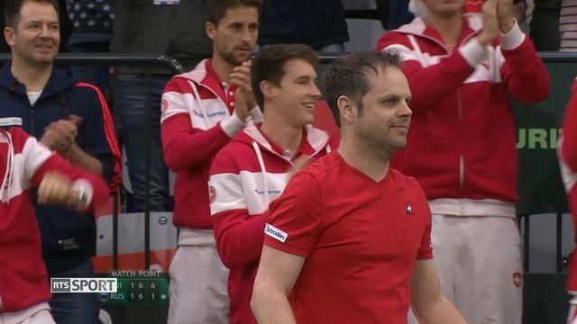 Tennis, Coupe Davis : la Suisse battue par la Russie [RTS]