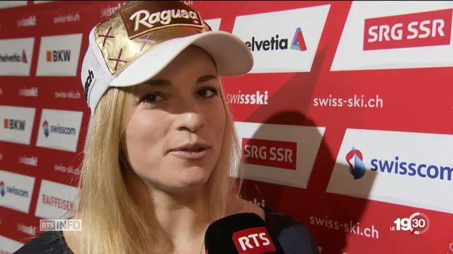 Lara Gut-Behrami vit une saison difficile. Ses espoirs de médailles à Are en Suède. [RTS]