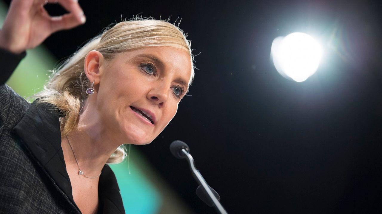 La conseillère nationale Céline Amaudruz est actuelle vice-présidente de l'UDC suisse. [Martial Trezzini - Keystone]
