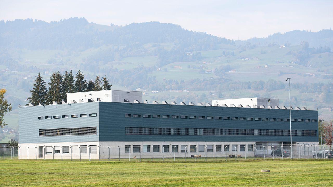 Ici, la prison d'Altstaetten, dans le canton de Saint-Gall. [Gian Ehrenzeller - KEYSTONE]