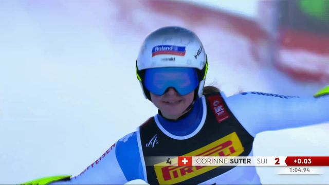 Are (SWE), Super G dames: Corinne Suter (SUI) [RTS]