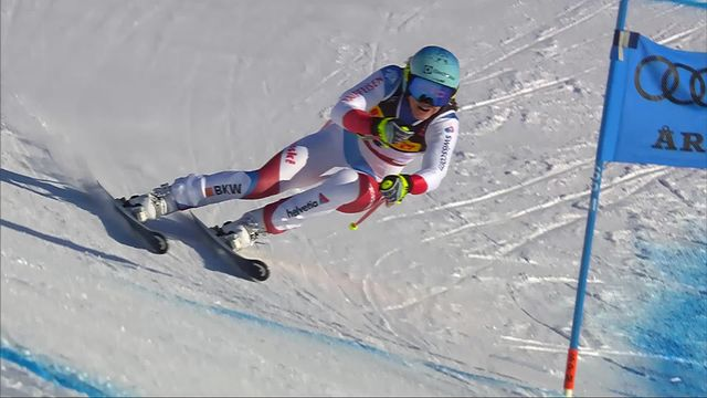 Are (SWE), Super G dames: Wendy Holdener (SUI) [RTS]