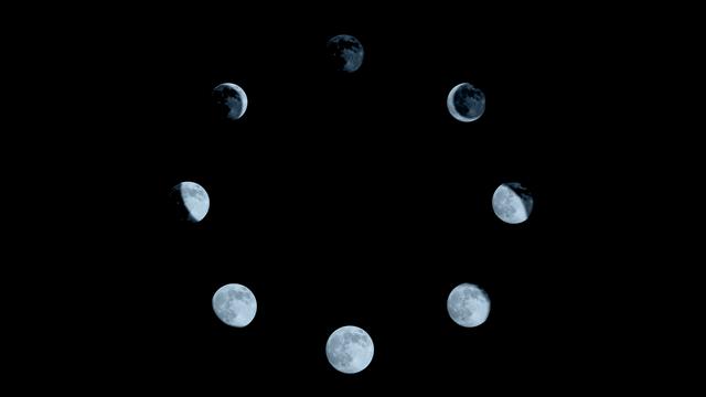 Les différentes phases de la Lune [Tamara_k - Depositphotos]
