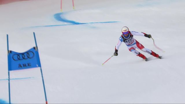 Are (SWE), Super G messieurs: Mauro Caviezel (SUI) [RTS]