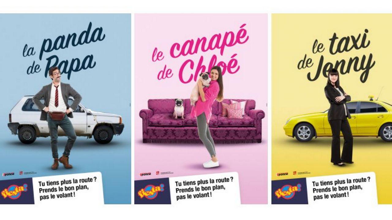La nouvelle campagne valaisanne de prévention routière se veut colorée et positive. [labelfiesta.ch]
