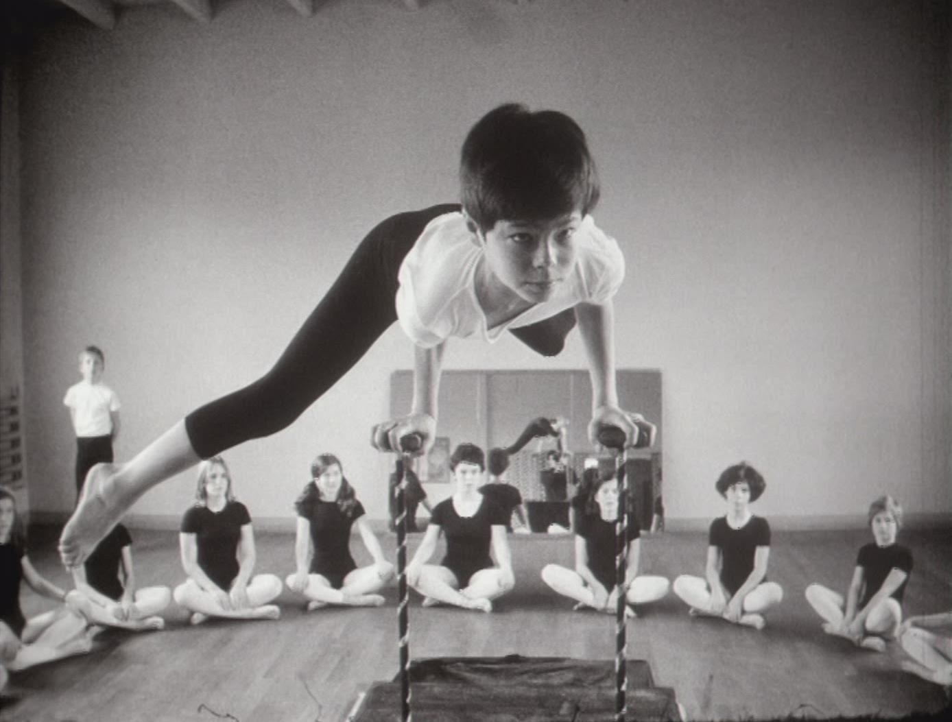 En cours de gymnastique artistique
