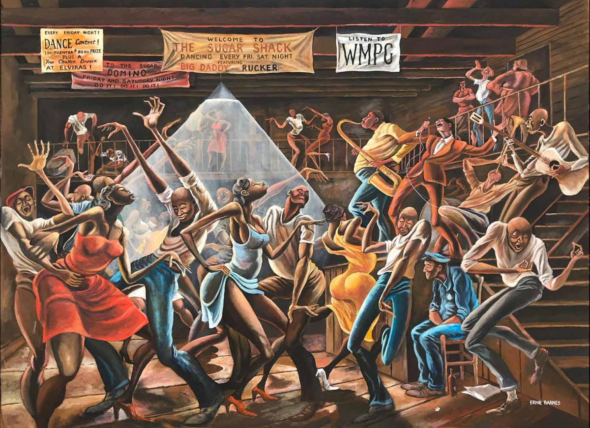 """The Sugar Shack"" du peintre Ernie Barnes."
