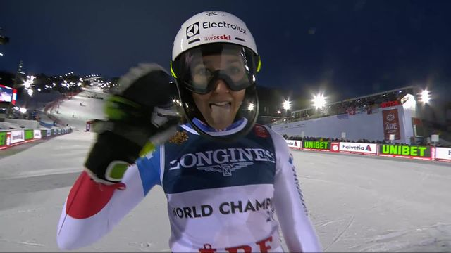 Are (SWE), combiné dames, slalom: Wendy Holdener (SUI) [RTS]