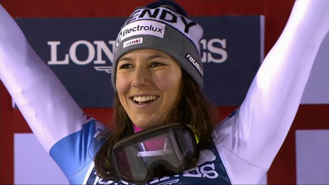 Are (SWE), combiné dames, slalom: l'hymne suisse joué pour la première fois à Are grâce à Wendy Holdener (SUI) [RTS]