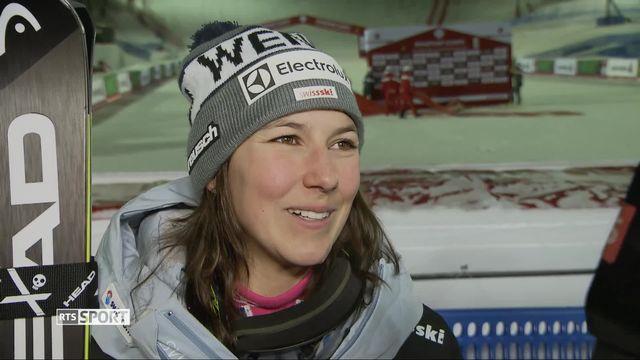 Are (SWE), combiné dames, slalom: la première réaction de Wendy Holdener après sa médaille d'or [RTS]