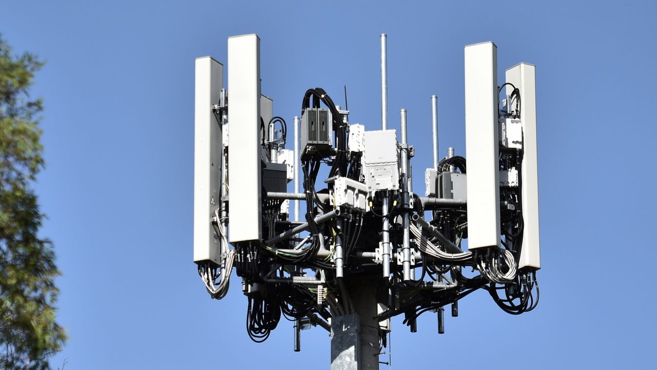Une antenne 5G. [Mick Tsikas - EPA/Keystone]