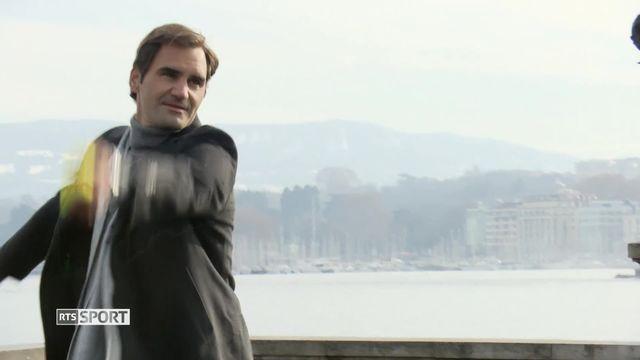 Roger Federer à Genève pour le lancement de la Lever Cup [RTS]