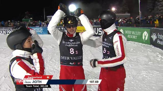 Aerial: médaille d'Or pour l'équipe Suisse [RTS]