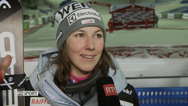 Combiné alpin: la réaction de Wendy Holdener [RTS]