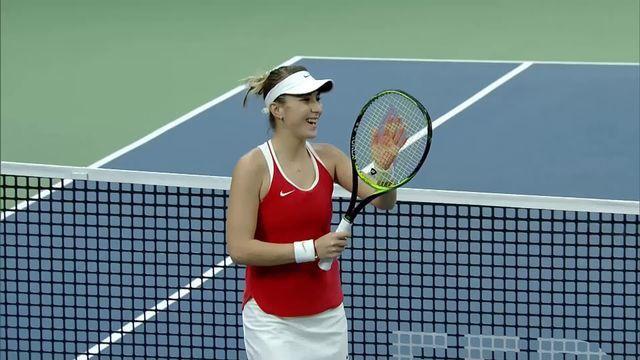 Tennis, Fed Cup, Suisse - Italie, 1er tour: Bencic gagne le premier match [RTS]